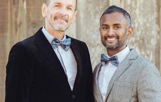 Todd Mordick and his husband, Ranjeev Singh. (Photo courtesy of Todd Mordick)