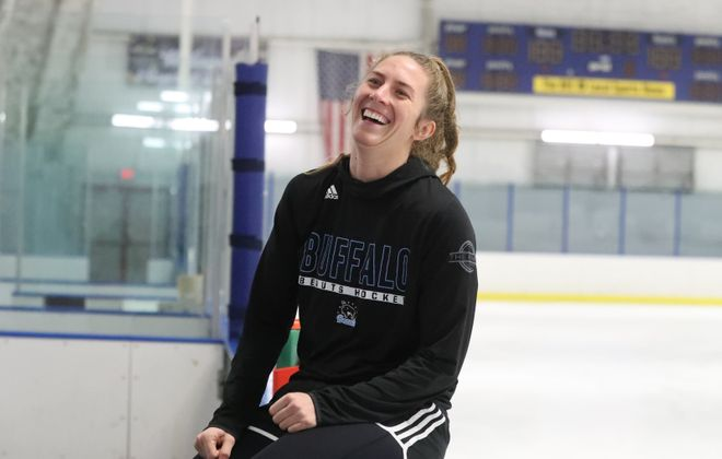 Beauts forward Corrine Buie is playing in her fourth season and is one of only eight players to play in all five years of the league. (James P. McCoy/Buffalo News)