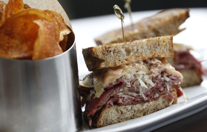 The house-smoked pastrami reuben from Patina 250 is a strong lunch option during Local Restaurant Week. (Sharon Cantillon/News file photo)