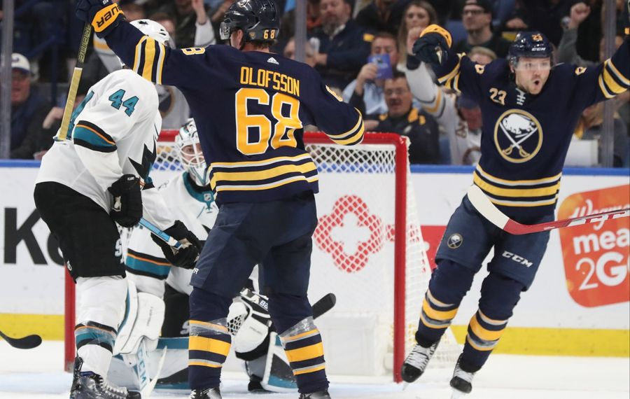 The TV ratings so far show that the Sabres and their fans have had lots to cheer about this season. (James P. McCoy/Buffalo News)