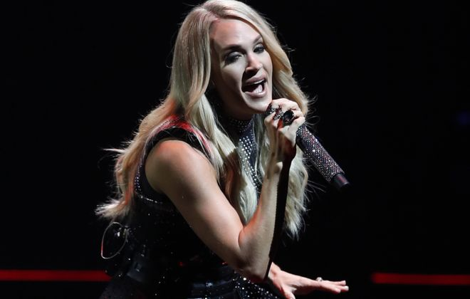 "Carrie Underwood performed songs from her six albums during her ""Cry Pretty Tour 360"" stop at KeyBank Center. (Sharon Cantillon/Buffalo News)"
