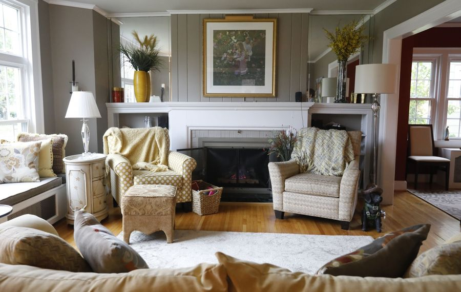 The living room in the  home of Joe and Jan  Capuana in University Heights. (Derek Gee/Buffalo News)