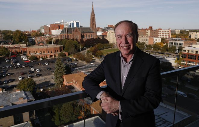 Scott Stenclik, the CEO of Aleron Inc. in their new headquarters in the 500 Pearl St. building. (Sharon Cantillon/Buffalo News)
