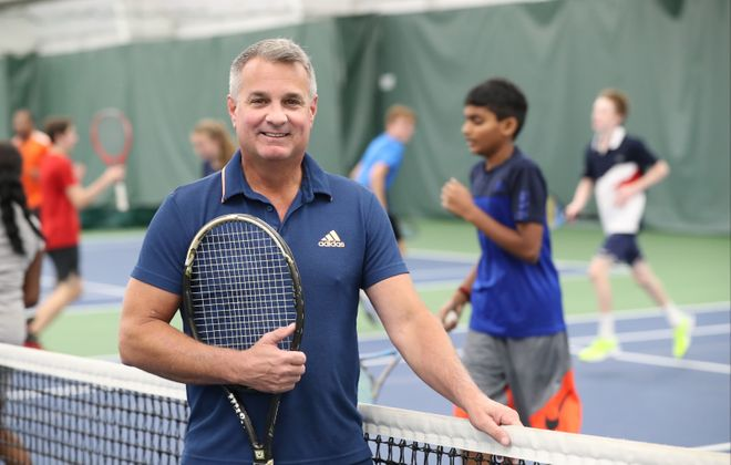 Russ Tringali has been a teaching tennis professional for the past 38 years. (James P. McCoy/Buffalo News)