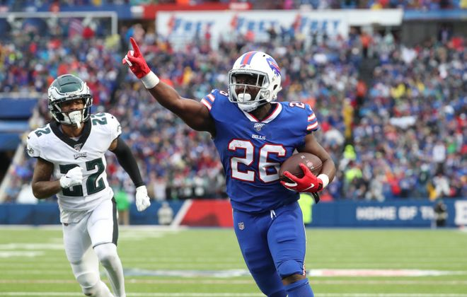 Bills running back Devin Singletary had a fantastic rookie season. (James P. McCoy/Buffalo News)
