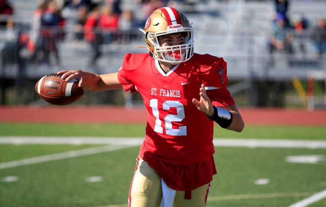 St. Francis quarterback Jake Ritts has passed for 27 touchdowns this season. (Harry Scull Jr./Buffalo News)