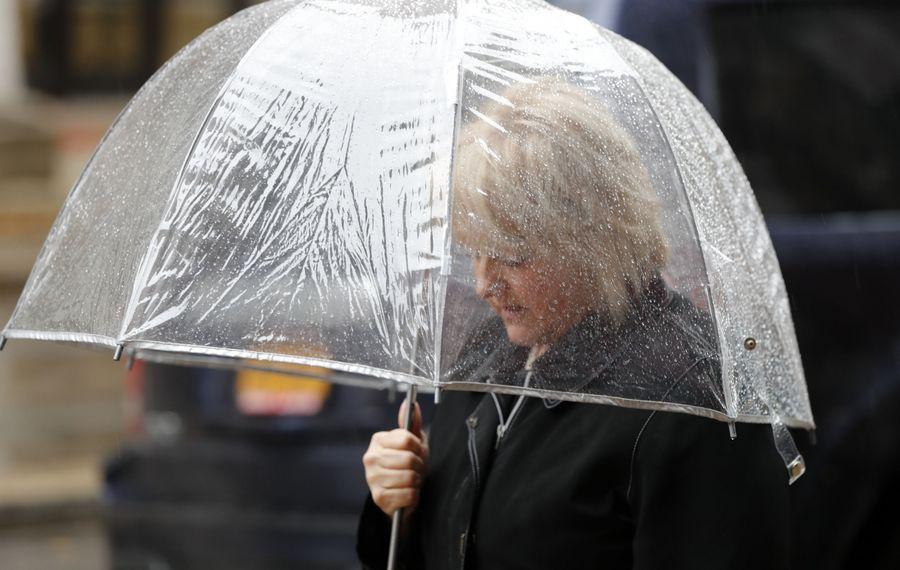 Raindrops are expected on a warm Monday. (Mark Mulville/Buffalo News file photo)