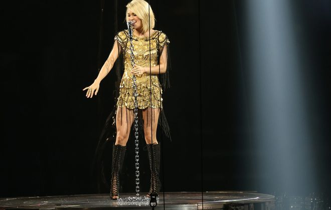 Carrie Underwood, pictured performing in Buffalo in 2016, heads back here Sunday night. (Sharon Cantillon/News file photo)