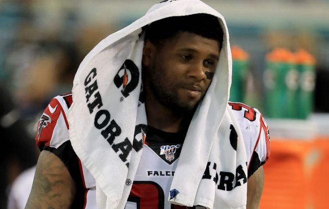 Falcons rookie running back Qadree Ollison has yet to appear in a regular-season game. (Getty Images)