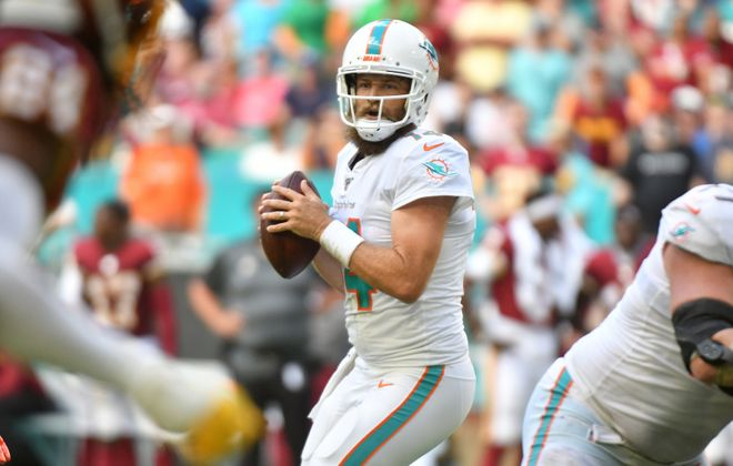 Ryan Fitzpatrick will start for the Dolphins (Eric Espada/Getty Images)