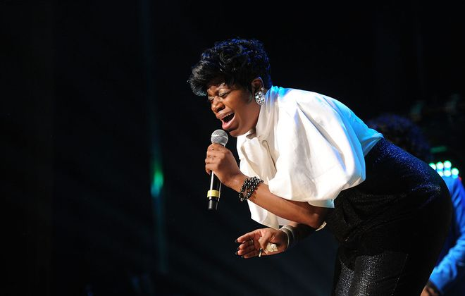 Fantasia Barrino performs in 2012 in Indianapolis.(Rick Diamond/Getty Images file photo)