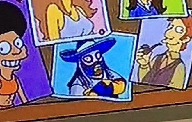 Pancho Billa made an appearance on The Simpsons. (Screenshot via Fox.com)