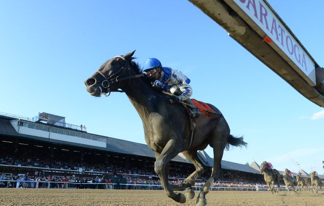 2017 Alabama winner Elate could take on the boys in the Breeders' Cup Classic. Photo Credit: NYRA