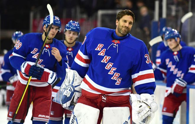 Henrik Lundqvist is expected to start in goal for the New York Rangers tonight against the Sabres. (Getty Images)