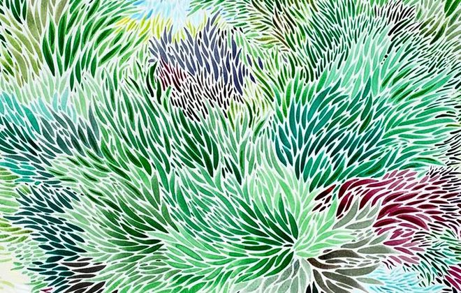 An exhibit featuring the detailed pen and ink quill work by artist Jennifer Ryan will be on exhibit in Flight Gallery at Flying Bison.
