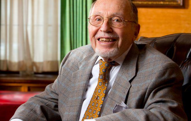 Portrait of Harold Levy, Clinical Associate Professor Emeritus in the Department of Psychiatry  Photographer: Douglas Levere
