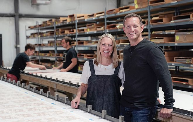 """Traci Ackerman with her husband/business partner Mike. """"There is so much support in Buffalo, that's what I love about Buffalo. People reach out to you asking how they can help."""" (Dave Jarosz)"""
