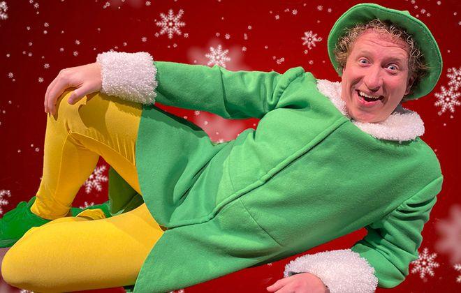 "Chris J. Handley as ""Buddy the Elf"". Photo by: Chris Cavanagh"