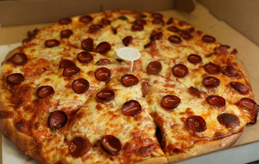The pepperoni pizza from Lovejoy Pizza. (Sharon Cantillon/News file photo)