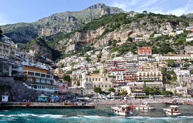 Positano reveals itself in dramatic vertical layers of Mediterranean-inspired color. (Nate Miner)