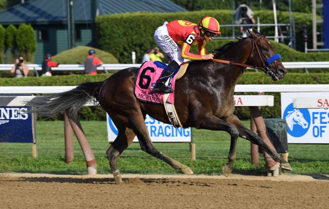 California-based McKinzie is the 3-1 morning line favorite in the Breeders' Cup Classic. Photo Credit: NYRA