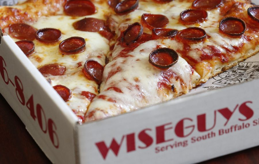 """Wise Guys Pizza uses the """"ol' reliable cup-and-char"""" pepperoni, which received a grade of """"A."""" (Robert Kirkham/Buffalo News)"""