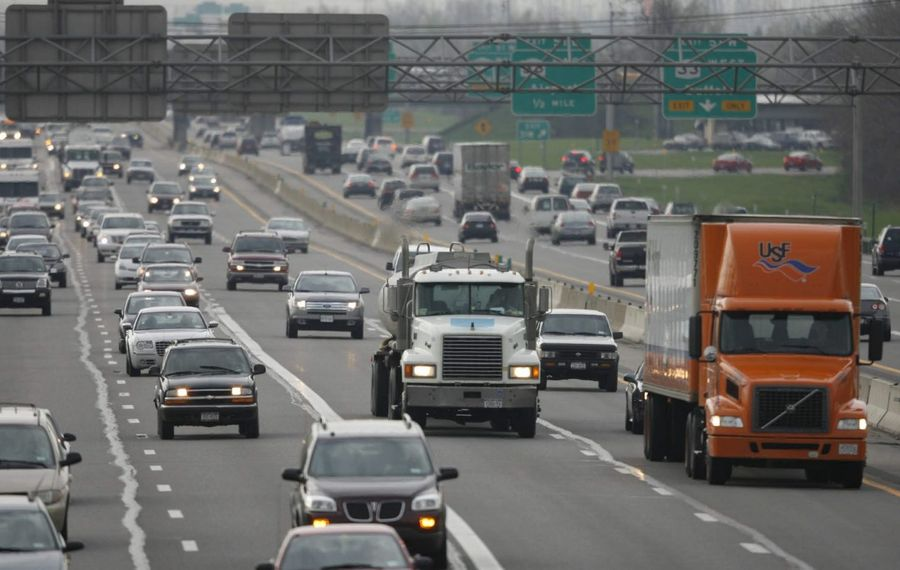 Many drivers on the Buffalo section of the Thruway tailgate and would be easy pickin' for cameras that capture their license plate and trigger tickets for following too closely. (Harry Scull Jr./News file photo)