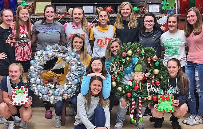 The Wilson girls basketball team helped deck the halls of Oishei Children's Hospital with spirit last year.