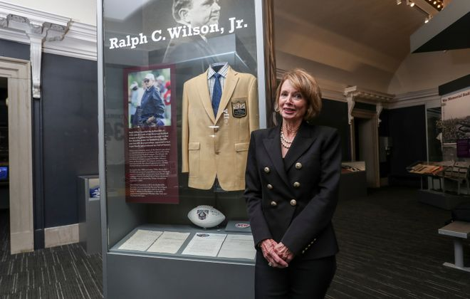 "Mary Wilson visited the Buffalo History Museum for ""An Evening With An Icon"" to talk about her late husband, the Bills and the work she and the foundation are doing in Buffalo. (James P. McCoy/Buffalo News)"