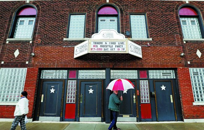 The Showplace Theater, which closed its doors in 2008, has reopened on Grant Street. (Robert Kirkham/Buffalo News)