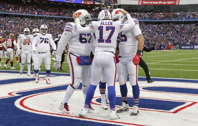 Bills quarterback Josh Allen spoke Thursday about how football can bring people of all races together. (James P. McCoy/Buffalo News)