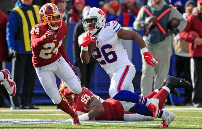 Bills fans were pleased about Devin Singletary's performance Sunday but not much else. (Harry Scull Jr./Buffalo News)