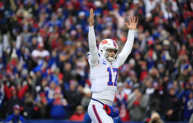 Bills quarterback Josh Allen. (Harry Scull Jr./Buffalo News)
