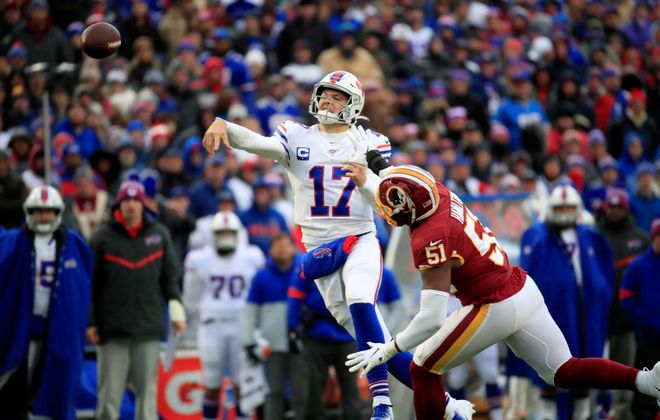 Bills quarterback Josh Allen has struggled on third down. (Harry Scull Jr./Buffalo News)