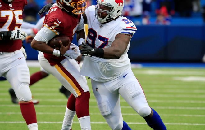 Bills defensive tackle Jordan Phillips is having a breakout season, with seven tackles. (Harry Scull Jr./Buffalo News)