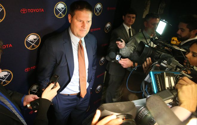 It's unclear if GM Jason Botterill will be the one running the Sabres when the offseason begins. (James P. McCoy/News file photo)