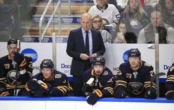 Coach Ralph Krueger's team lost to the Calgary Flames for the second time in eight days. (Harry Scull Jr./News file photo).