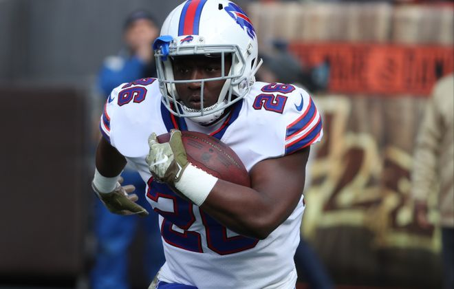 Bills running back Devin Singletary is the team's leading rusher as a rookie. (James P. McCoy/Buffalo News)
