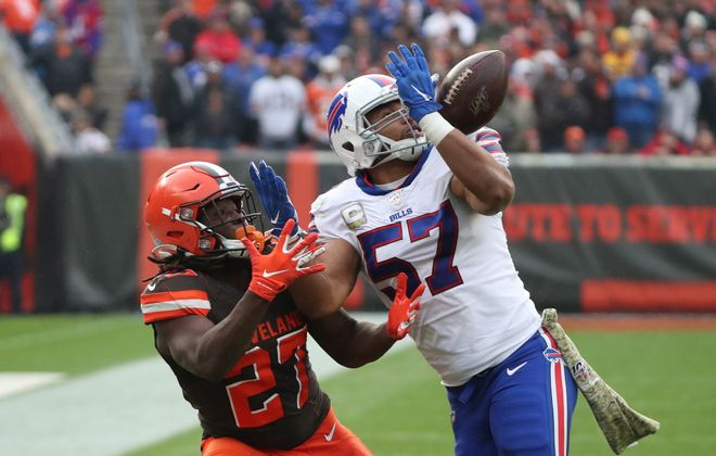 The Buffalo Bills have just 11 takeaways this season, tied for 20th in the NFL. (James P. McCoy/Buffalo News)