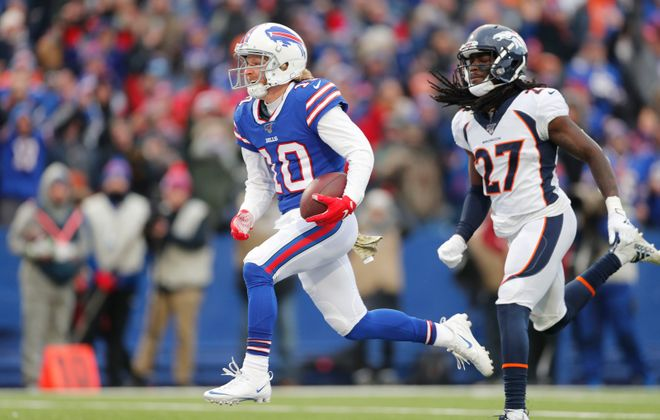 Bills receiver Cole Beasley is part of a deep position group. (Mark Mulville/Buffalo News)