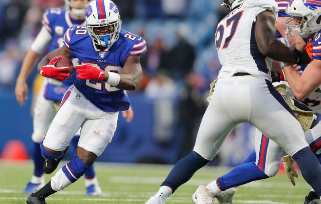 With Frank Gore not expected to return, the Buffalo Bills may be in the market for a No. 2 running back in free agency. (Mark Mulville/Buffalo News)