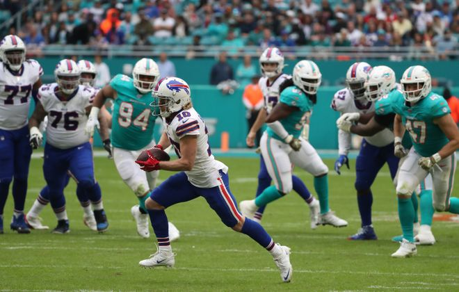 The Buffalo Bills' up-tempo offense piled up a season-high 37 points Sunday. (James P. McCoy/Buffalo News)