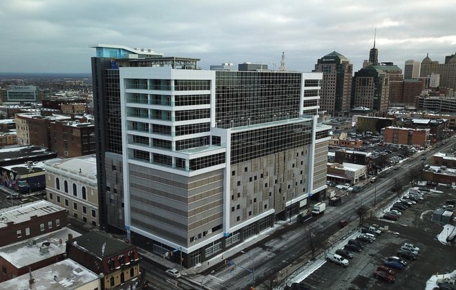 The Aloft Hotel at 500 Pearl St. in downtown Buffalo is one of five Ellicott Hotels properties offering discounted room rates for first responders. (Buffalo News file photo)