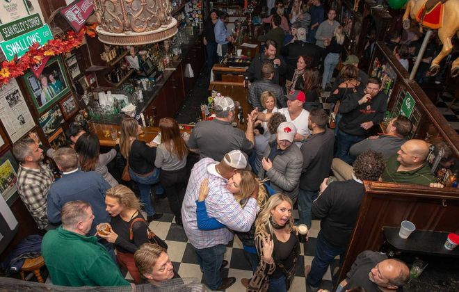 The scene at Coles' 84th anniversary from the second floor. (Matt Weinberg/Special to The News)