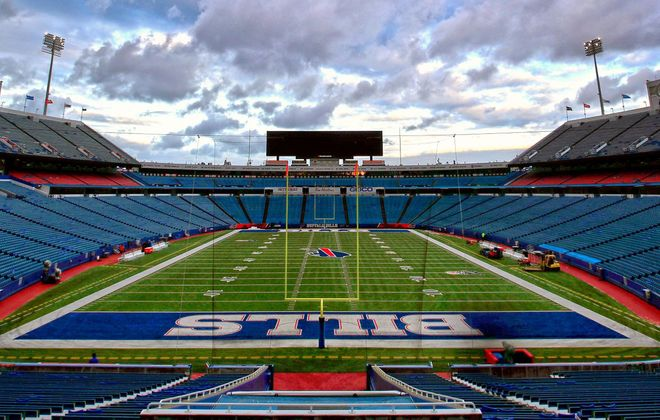 Could the Bills play in New Era Field with no fans to fill the seats? The governor believes so. (Harry Scull Jr./News file photo)
