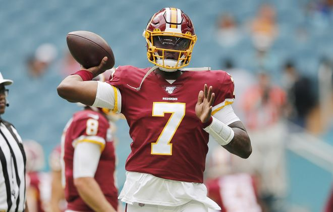 Dwayne Haskins of the Washington Redskins will make his first career start. (Getty Images)