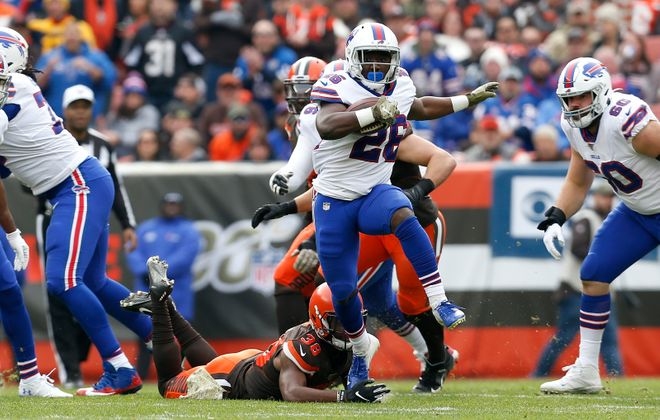Devin Singletary and the Buffalo Bills couldn't run their record to 7-2 on the season, losing to the Cleveland Browns on Sunday. (Getty Images)