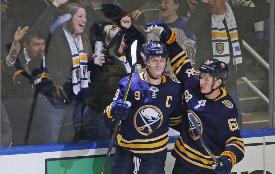 Jack Eichel has brought Sabres fans out of their seats this season (Robert Kirkham/Buffalo News).