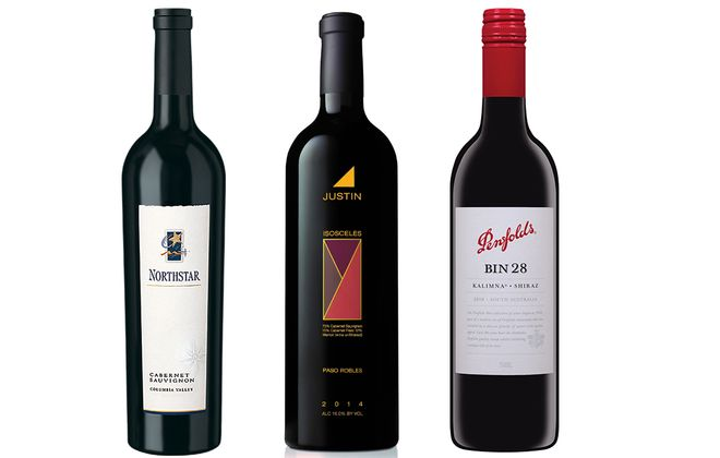 2014 Northstar Cabernet Sauvignon Columbia Valley, 2013 Justin Isosceles blend and 2016 Penfolds Bin 28 Kalimna Shiraz.