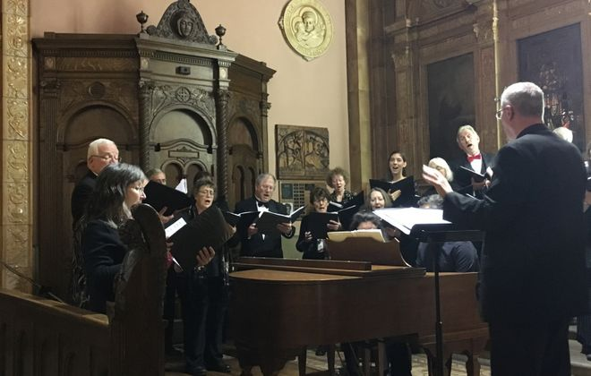 """Enjoy a delicious treat and great music when the Freudig Singers again host the annual """"Christmas Pie"""" concerts."""